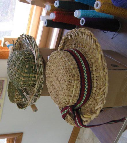 woven hats